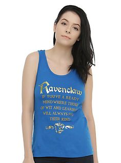 c04b15b31f011 Harry Potter Ravenclaw Sorting Hat Girls Tank Top