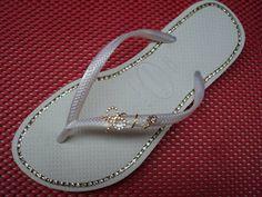 Sandálias Havaianas Slin customizadas,