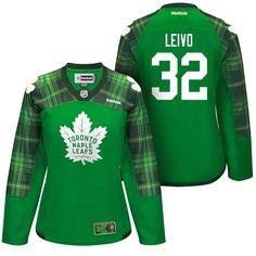 Women Maple Leafs Josh Leivo Green St. Patrick Day Jersey 5daaaca69