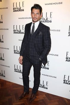 David Gandy - Most Stylish Men of the Week 21-02-2014 | GQ UK: 'Yet another masterclass in perfectly tailored suiting from Henry Poole? Check.'