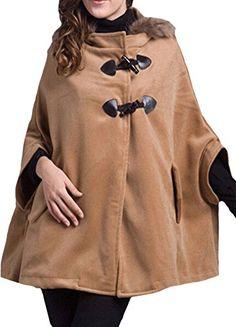 Minibee Women's Fashion Poncho Loose Hood Cape Jacket Khaki S Minibee http://www.amazon.com/dp/B014LV4SJ2/ref=cm_sw_r_pi_dp_Dsq4vb09V58TW