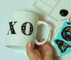 Linen, Lace, & Love: DIY: Anthropologie Inspired Mug #DIY #crafts #valentines #day #mug #anthropologie