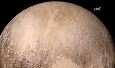 A true-color image of the surface of Pluto