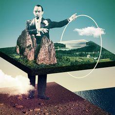 Julien Pacaud / More Here: http://graphicmixedmedia.altervista.org/un-non-troppo-lontano-futuro-julien-pacaud/