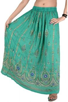 WOMEN LONG SKIRT HAND BEADED PAINTED MAXI GYPSY BOHEMIAN Skirts 'N Scarves http://www.amazon.com/dp/B00HCF7AUE/ref=cm_sw_r_pi_dp_qEbrub04CW1X9