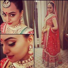 Red Hot! Sonakshi Gets Ready For Some 'Saat Phere' in This Stunning Bridal Attire | PINKVILLA