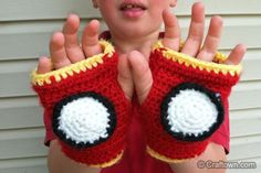 Free Crochet Pattern - Iron Man Gloves