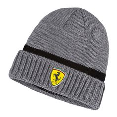 Puma Ferrari Beanie ($14) ❤ liked on Polyvore featuring men's fashion, men's accessories, men's hats and mens beanie hats