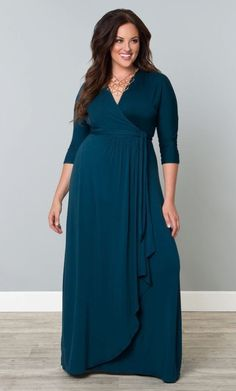 63bb16b69e7 True wrap blue maxi gown blends comfort and style. You look and feel  fantastic! Affiliate link
