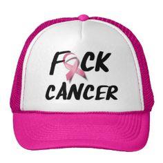 F*CK Breast Cancer Mesh Hat