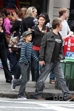 NYC 09/26/09 EXCLUSIVE: Norman Reedus and son Mingus Reedus (10 years old. Mother is Helena Christensen) stopping for ice cream while shopping in SOHO EXCLUSIVE photo by Adam Nemser-PHOTOlink.net