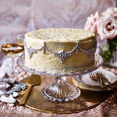 Glitzy white chocolate cake - Sainsbury's Magazine