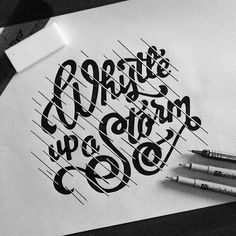 'Whistle up a Storm' - Creative lettering by @sparks5designs! // Apologies for the huge break and disappearance of posts!  but WE'RE BACK, With more inspiring typography pieces! // #typographyinspired #typography #type #graphics #inspire #lettering #handdrawn #create #art #monochrome
