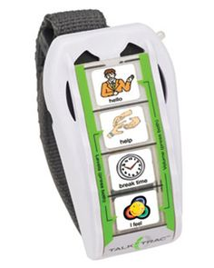 Perfect for the holidays, the TalkTrac wearable communicator makes on-the-go communication easier than ever. Our assistive technology stores 8 messages for special needs users to be more comfortable in social situations.