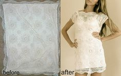 pillow case into a dress!