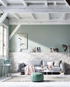 Arredare il soggiorno con i colori pastello - Colori pastello nell'arredo di casa