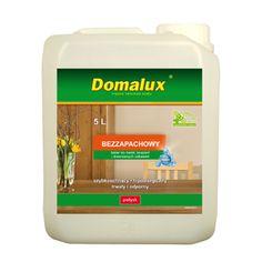 Domalux Bezzapachowy -Nowoczesny lakier akrylowy opracowany z wykorzystaniem nanotechnologii przeznaczony jest do malowania mebli, boazerii, przedmiotów drewnianych i drewnopochodnych wewnątrz pomieszczeń nienarażonych na działanie wody i innych agresywnych mediów.