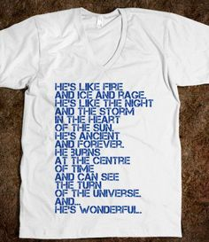 Doctor WHO? American Apparel Unisex V-Neck Tee / White