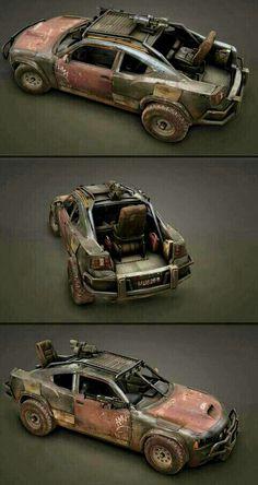 Ravaged Dodge Camero Guncar by Polygoo