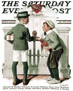 """""""Rivals"""" by Norman Rockwell"""