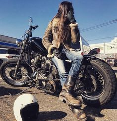 Engineer Boots, Bobber Chopper, Lady Biker, Harley Davidson Motorcycles, Girl Motorcycle, Deities, Vehicles, Roots, Dreams