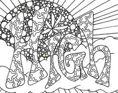 Cute insult calming coloring page with ornaments. by