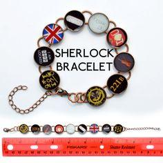 BBC Sherlock Inspired Bracelet. I could make this....