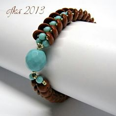 Interesting configuration and colors. w piggy beads