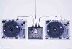 Turntables X-Ray Decks Poster 24x36