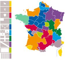 French flags types map.