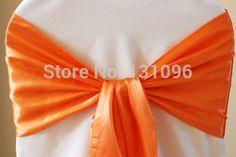 100pcs #30 Orange Satin Sash 20x270cm For Wedding Events &Party Decoration