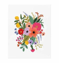 Rifle Paper Co.-Rifle Paper Co. Art Floral, Illustration Blume, Plant Drawing, Guache, Rifle Paper Co, Gouache Painting, Painting Art, Floral Illustrations, Painting Illustrations
