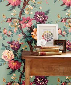 Kristina Wallpaper in Cinema Room Green
