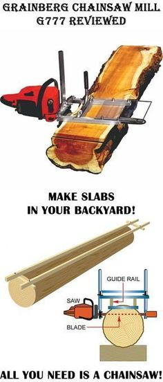 This is fantastic! making slabs has never been easier! You can make your own little mill in your backyard, fantastic woodworking tool!