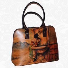 Kabelky Kožené výrobky - Page 4 of 5 - Kožená galantéria a originálne ručne maľované kožené výrobky Italian Leather, Beautiful Words, Roman, Hand Painted, Pattern, Bags, Leather Products, Style, Memories