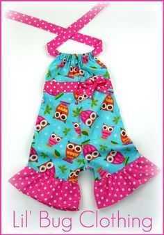 Custom Boutique Clothing Lil' Owl Aqua Pink by LilBugsClothing, $32.00
