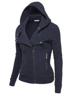 J.TOMSON Womens Fleece Zip-Up Moto Jacket - Listing price: $57.99 Now: $19.99