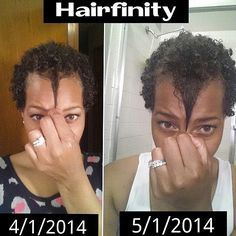 Congratulations to Hairfinity user, Vendetta, on her 1 month hair growth journey! #Hairfinity