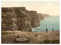 Cliffs at Moher. County Claire. (i.e. Clare), Ireland