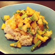 Ruminations on Food: Beat the Heat: Lemon Quinoa Salad with Tomato & Avocado