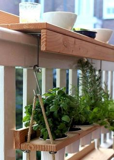 I love this idea for hanging plants on a small balcony. - - I love this idea for hanging plants on a small balcony. I love this idea for hanging plants on a small balcony. Small Balcony Design, Small Terrace, Small Balconies, Small Balcony Garden, Small Patio, Small Balcony Decor, Balcony Gardening, Small Balcony Furniture, Small Apartment Furniture