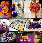 purple and orange wedding theme - Bing Images