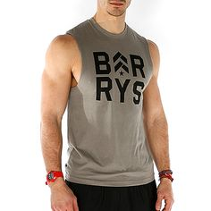 Men's J15 Muscle Tee w/ Stacked Barry's www.barrysbootcamp.com #fitness #fitnessapparel #workoutclothes #mensfashion