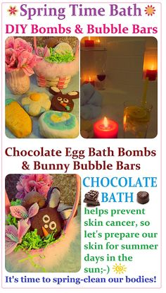 DIY Spring time Bubble Bars & Bath Bombs Recipe + Easter Egg Chocolate Bath Bombs + Bunny Bubble Bars, How to Make SPA Products CHEAP, EASY & QUICK! Homemade Gift Idea for Easter.