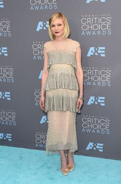 Kirsten Dunst in Chanel Couture at the Critics' Choice Awards.