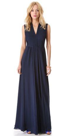 Rebecca Taylor Pleated Maxi Dress