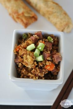 Great idea for substituting quinoa for rice in a great take out dish! #recipes #Asian
