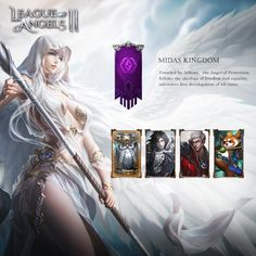 """League of Angels II, GTArcade's upcoming fantasy MMORPG, is shaping up to take the genre by storm. Under development for 2 years with team of veteran game developers, League of Angels II is ready to show the world that""""The Angels have Transcended. Digital Art Fantasy, Fantasy Art Women, Fantasy Artwork, Angel Devil Tattoo, Angel And Devil, League Of Angels, Thing 1, Manga Artist, Beautiful Anime Girl"""