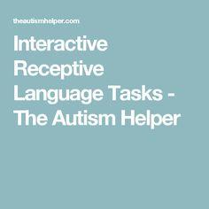 Interactive Receptive Language Tasks - The Autism Helper
