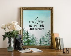 Instant 'The Joy is in the Journey' Printable by mylovenotedesigns